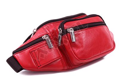 Červená kožená ledvinka