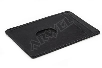 Černá jednoduchá kožená dokladovka