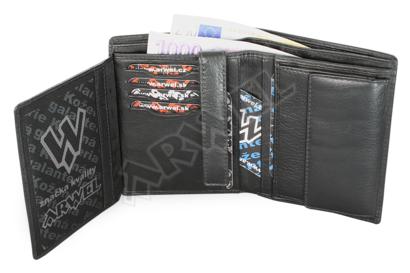 Černá pánská kožená dokladová peněženka