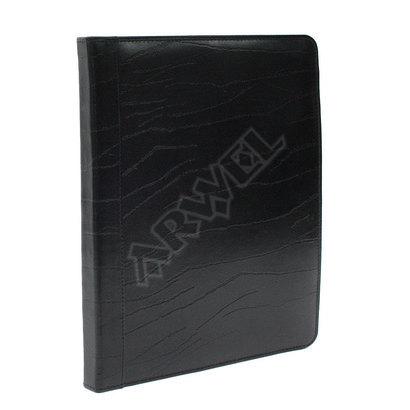 Černá kožená spisovka A4