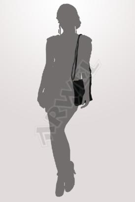 Černá kožená zipová minikabelka