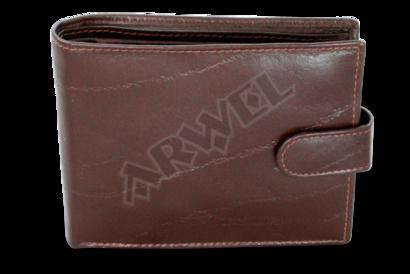 Tmavě hnědá pánská kožená peněženka se zápinkou