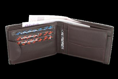 Hnědá pánská kožená peněženka s vnitřní zápinkou