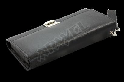 Kožená číšnická peněženka s řetízkem