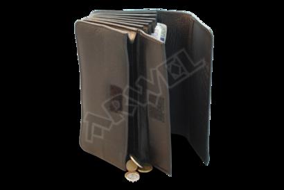 Kožená číšnická peněženka - harmonika