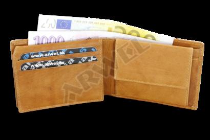 Světle hnědá pánská kožená peněženka