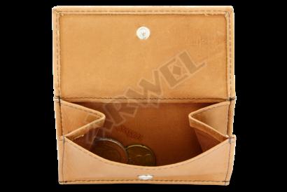 Světle hnědá dámská kožená mini peněženka