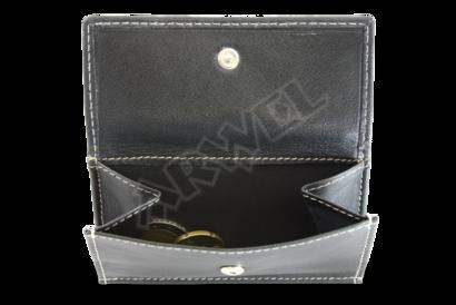 Černá dámská kožená mini peněženka