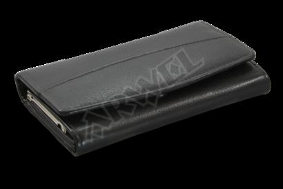 Černá dámská kožená rámová peněženka