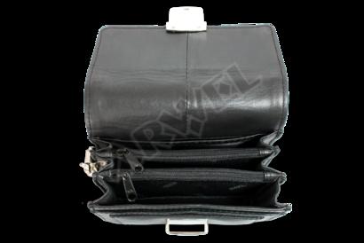 Černá pánská kožená mini etue