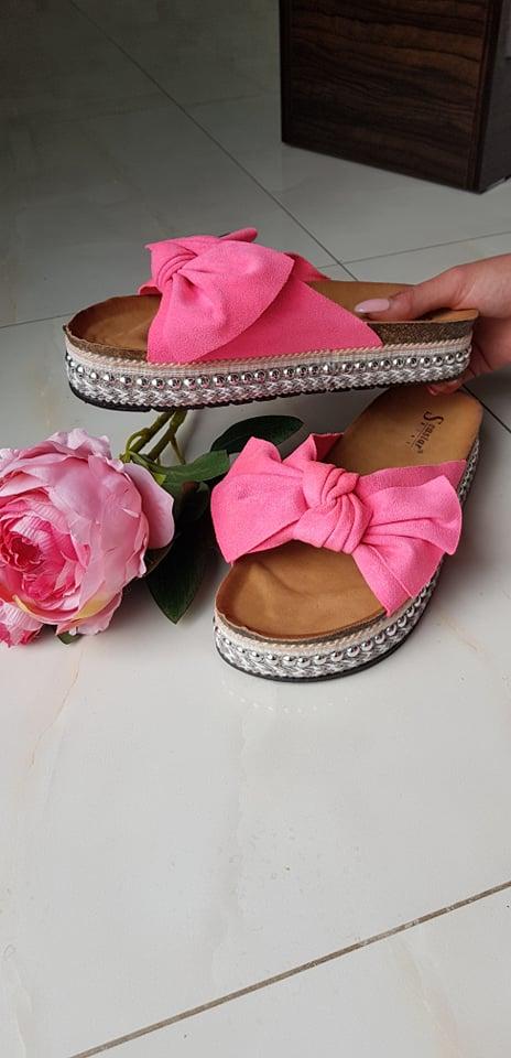 Pantofle neonově růžová vel. 37