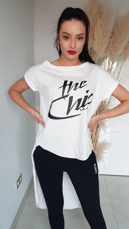 Tričko LA..MU The Chic bílé vel. UNI