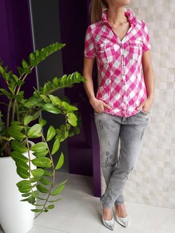 Košile kostkovaná Růžová Vel.L