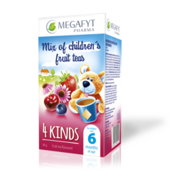 Selection of children's fruit teas